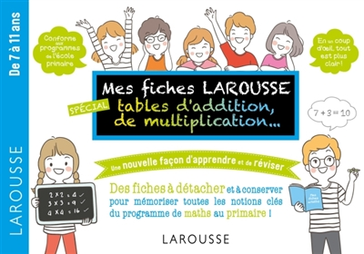 MES FICHES LAROUSSE, SPECIALES ADDITIONS, M ULTIPLICATIONS, ...