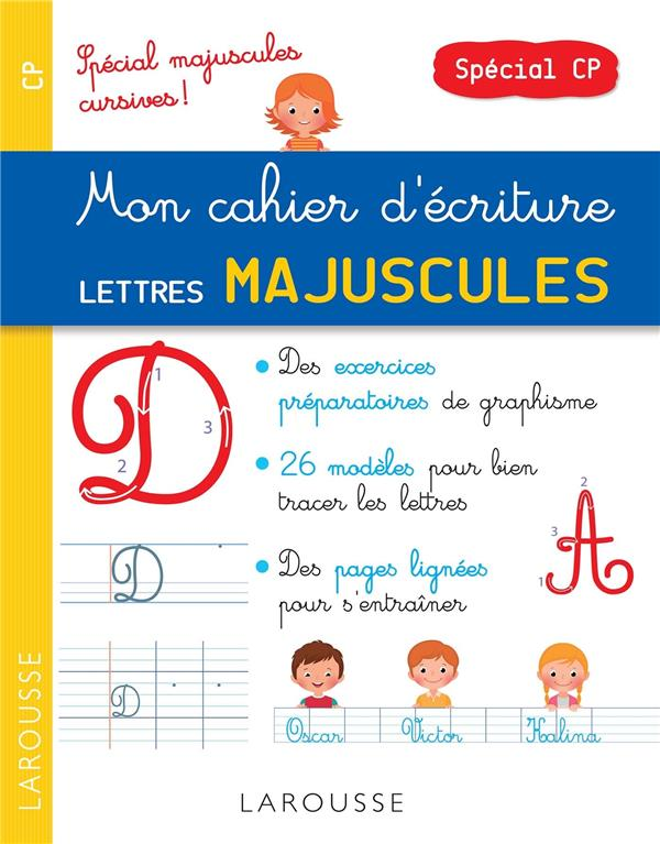 Petit Cahier D Ecriture Special Majuscules Librairie Martelle