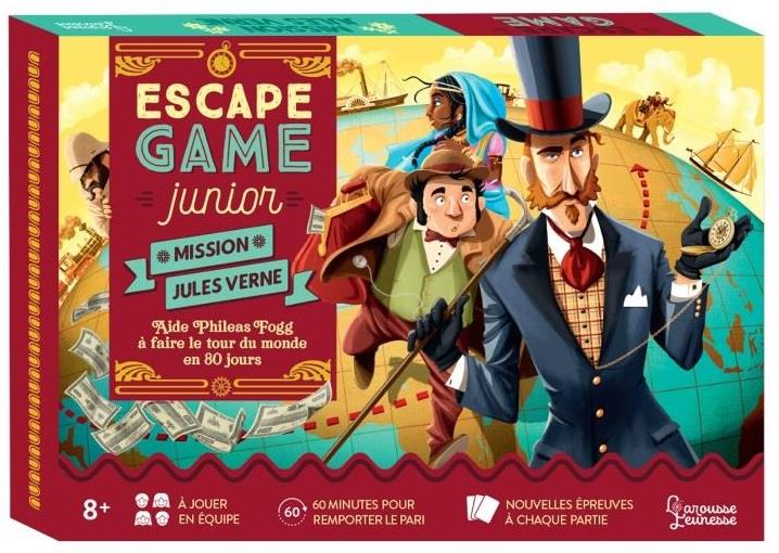 ESCAPE GAME JUNIOR  -  MAISON JULES VERNE  -  AIDE PHILEAS FOGG A FAIRE LE TOUR DU MONDE EN 80 JOURS LEBRUN/AUDRAIN NC