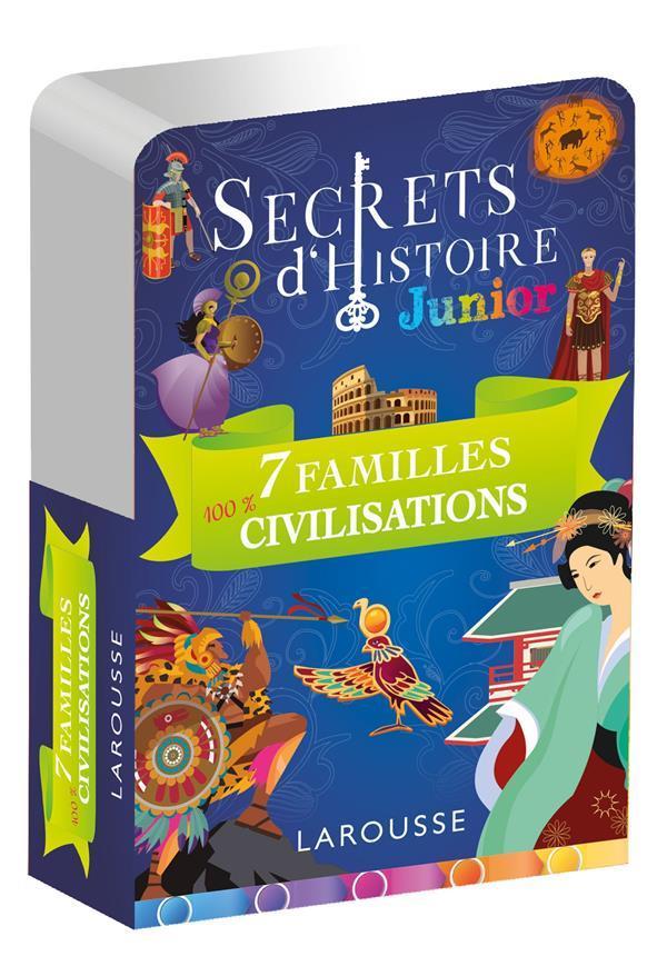SECRETS D'HISTOIRE JUNIOR  -  JEU DE 7 FAMILLES CIVILISATIONS XXX NC