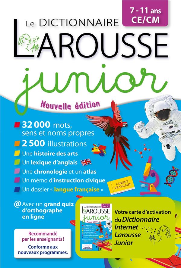 LE DICTIONNAIRE LAROUSSE JUNIOR BIMEDIA COLLECTIF LAROUSSE