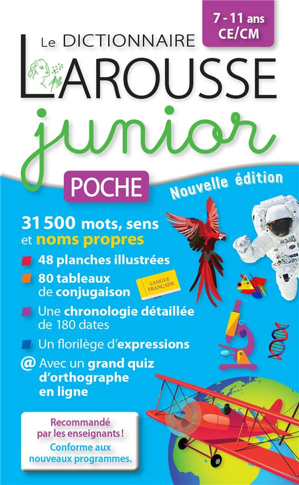 LE DICTIONNAIRE LAROUSSE JUNIOR POCHE COLLECTIF LAROUSSE