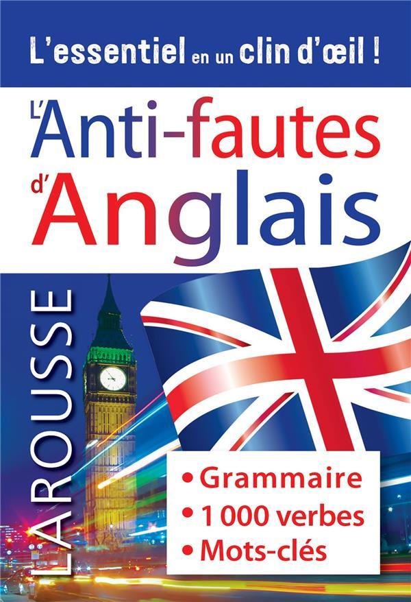 L'ANTI-FAUTES ANGLAIS XXX LAROUSSE