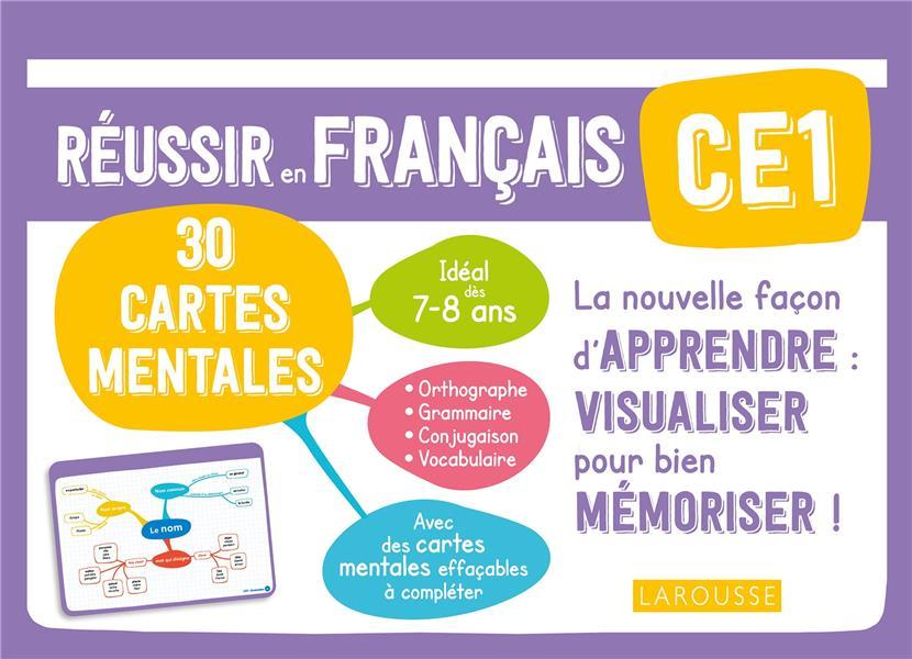 REUSSIR EN FRANCAIS  -  CE1  -  30 CARTES MENTALES