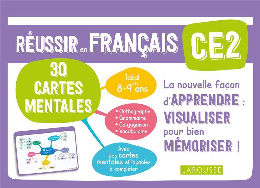 REUSSIR EN FRANCAIS  -  CE2  -  30 CARTES MENTALES