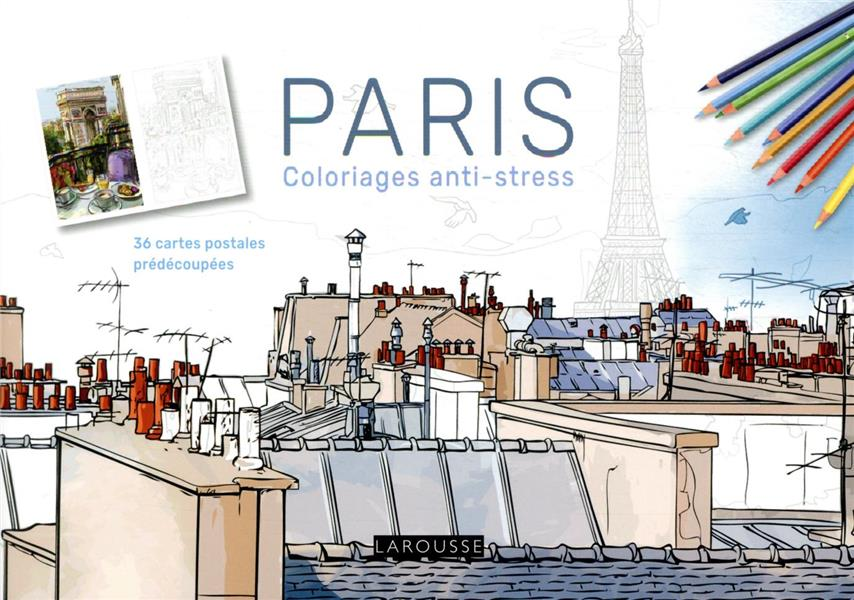 PARIS COLORIAGES ANTI-STRESS : 36 CARTES POSTALES PREDECOUPEES XXX NC