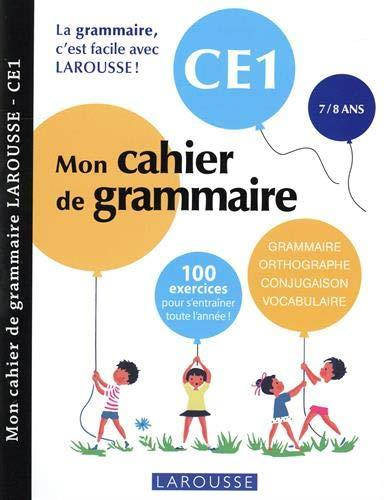 MON CAHIER DE GRAMMAIRE  -  CE1