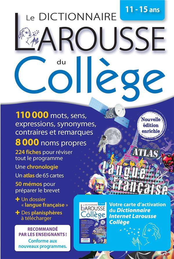 LE DICTIONNAIRE LAROUSSE DU COLLEGE  -  BIMEDIA COLLECTIF LAROUSSE