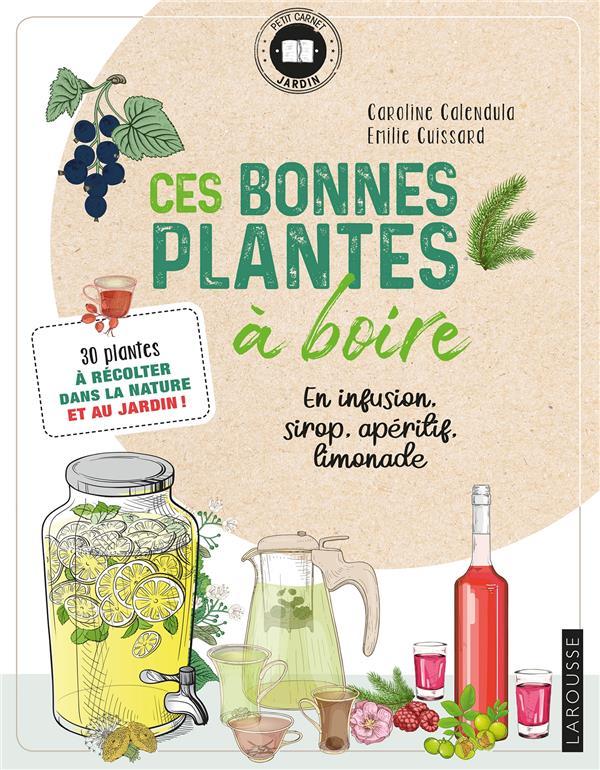 CES BONNES PLANTES A BOIRE  -  30 PLANTES A RECOLTER DANS LA NATURE ET AU JARDIN ! EMILIE CUISSARD LAROUSSE