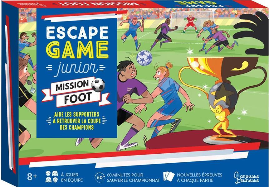 ESCAPE GAME JUNIOR  -  MISSION FOOT  -  AIDE LES SUPPORTERS A RETROUVER LA COUPE DES CHAMPIONS LEBRUN/AUDRAIN/VIDAL NC