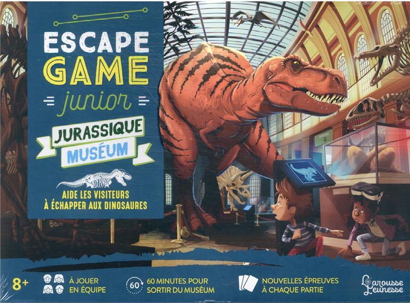 ESCAPE GAME JUNIOR  -  JURASSIC MUSEUM : AIDE LES VISITEURS A ECHAPPER AUX DINOSAURES LEBRUN/AUDRAIN NC