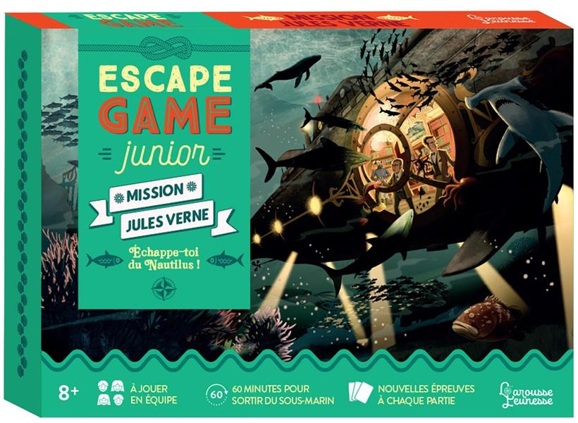 ESCAPE GAME JUNIOR  -  MISSION JULES VERNE : ECHAPPE-TOI DU NAUTILUS ! LEBRUN/AUDRAIN NC