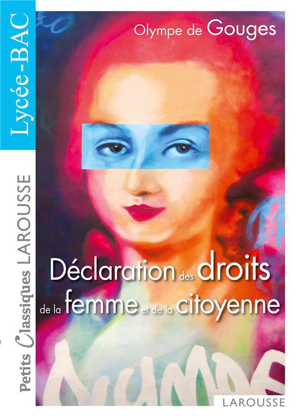 LA DECLARATION DES DROITS DE LA FEMME ET DE LA CITOYENNE