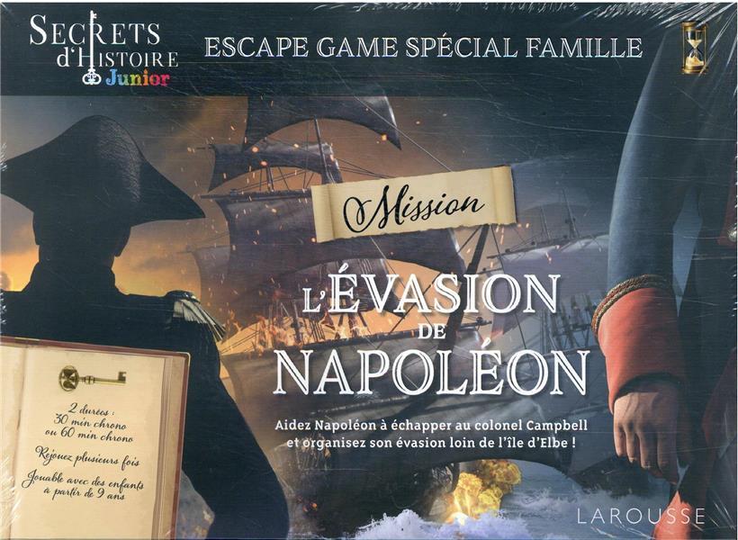 ESCAPE GAME FAMILLE - SECRETS D'HISTOIRE JUNIOR - EVASION DE NAPOLEON COLLECTIF NC