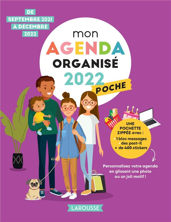 MON AGENDA ORGANISE POCHE (EDITION 2022) XXX NC