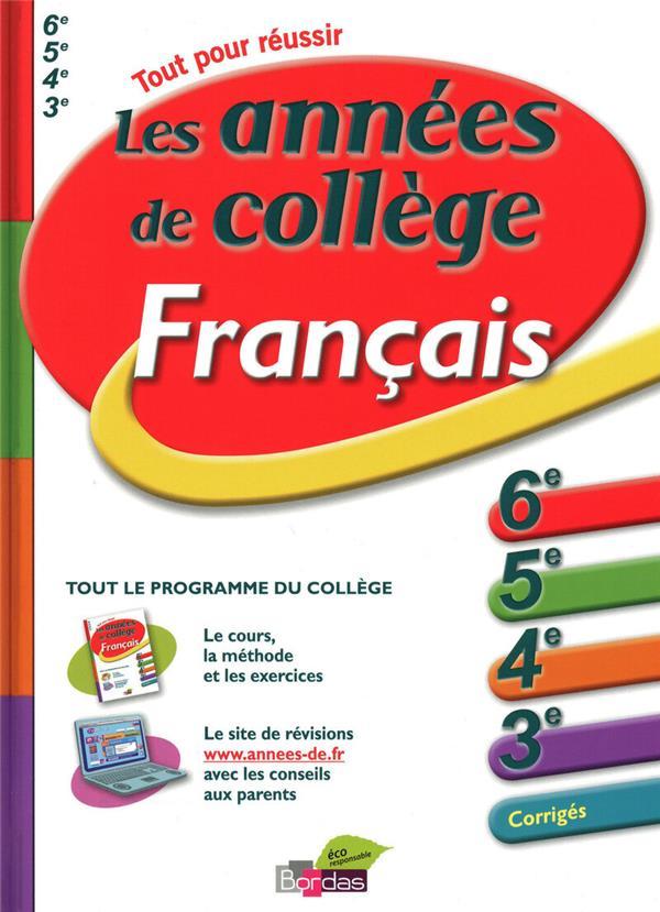 ANNEES DE COLLEGE FRANCAIS PEGORARO/KLING BORDAS