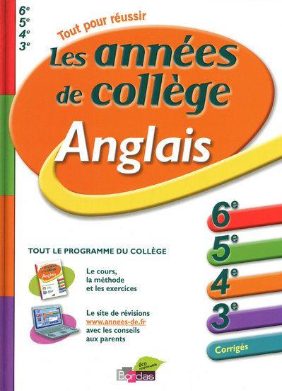 ANNEES DE COLLEGE ANGLAIS NANTEUIL/LAJOINIE BORDAS