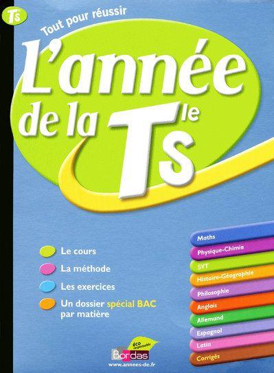 ANNEE DE LA TERMINALE S COLLECTIF BORDAS
