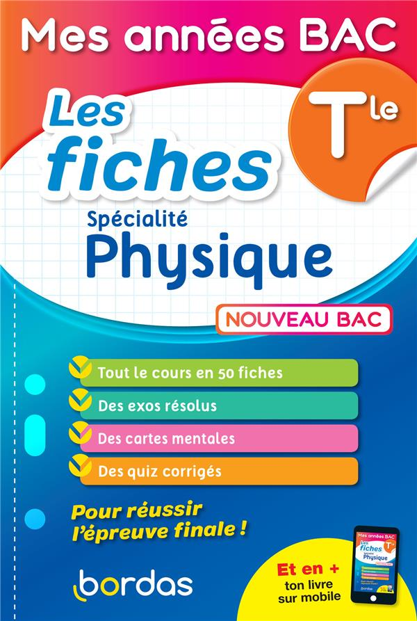 LES FICHES SPECIALITE PHYSIQUE     TERMINALE (EDITION 2021)