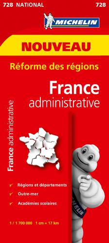 XXX - CARTE NATIONALE 728 FRANCE DEPARTEMENTALE ET ADMINISTRATIVE