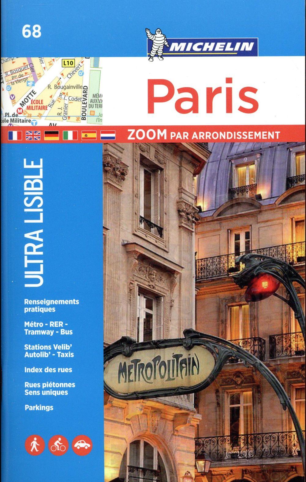 PARIS PAR ARRONDISSEMENT (ZOOME) XXX Michelin Cartes et Guides