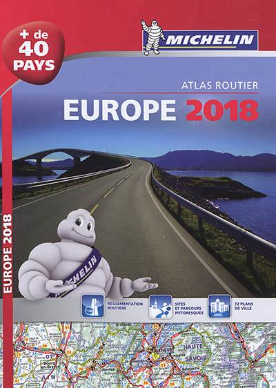 EUROPE 2018 - ATLAS ROUTIER ET TOURISTIQUE (A4 - SPIRALE)