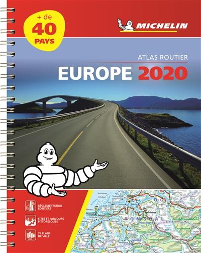EUROPE 2020 - ATLAS ROUTIER ET TOURISTIQUE ( A4 SPIRALE) XXX MICHELIN