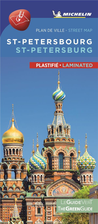 ST PETERSBOURG - PLAN DE VILLE PLASTIFIE  ST PETERSBOURG CITYMAP LAMINATED
