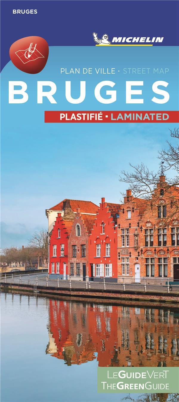 BRUGES - PLAN DE VILLE PLASTIFIE  BRUGES CITYMAP LAMINATED