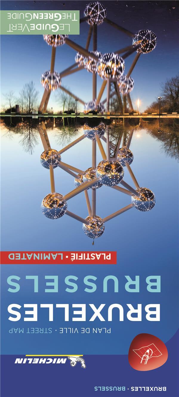 BRUXELLES - PLAN DE VILLE PLASTIFIE  BRUSSELS - CITYMAP LAMINATED