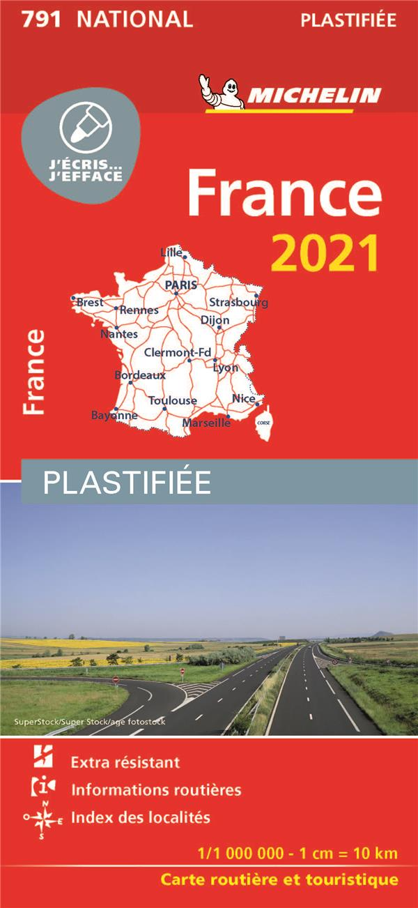 FRANCE  -  PLASTIFIEE (EDITION 2021) COLLECTIF MICHELIN MICHELIN