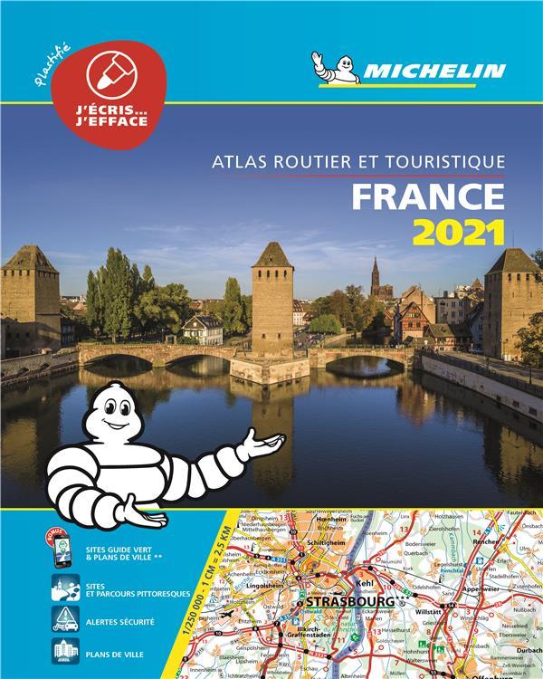 ATLAS ROUTIER FRANCE  -  PLASTIFIE (EDITION 2021) COLLECTIF MICHELIN MICHELIN