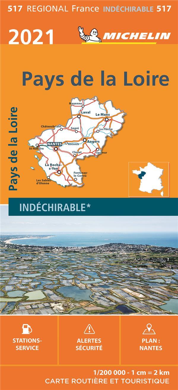 PAYS DE LA LOIRE (EDITION 2021) COLLECTIF MICHELIN MICHELIN