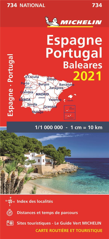 ESPAGNE, PORTUGAL (EDITION 2021) COLLECTIF MICHELIN MICHELIN
