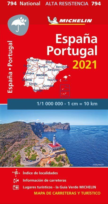 ESPAGNE, PORTUGAL  -  INDECHIRABLE (EDITION 2021) COLLECTIF MICHELIN MICHELIN