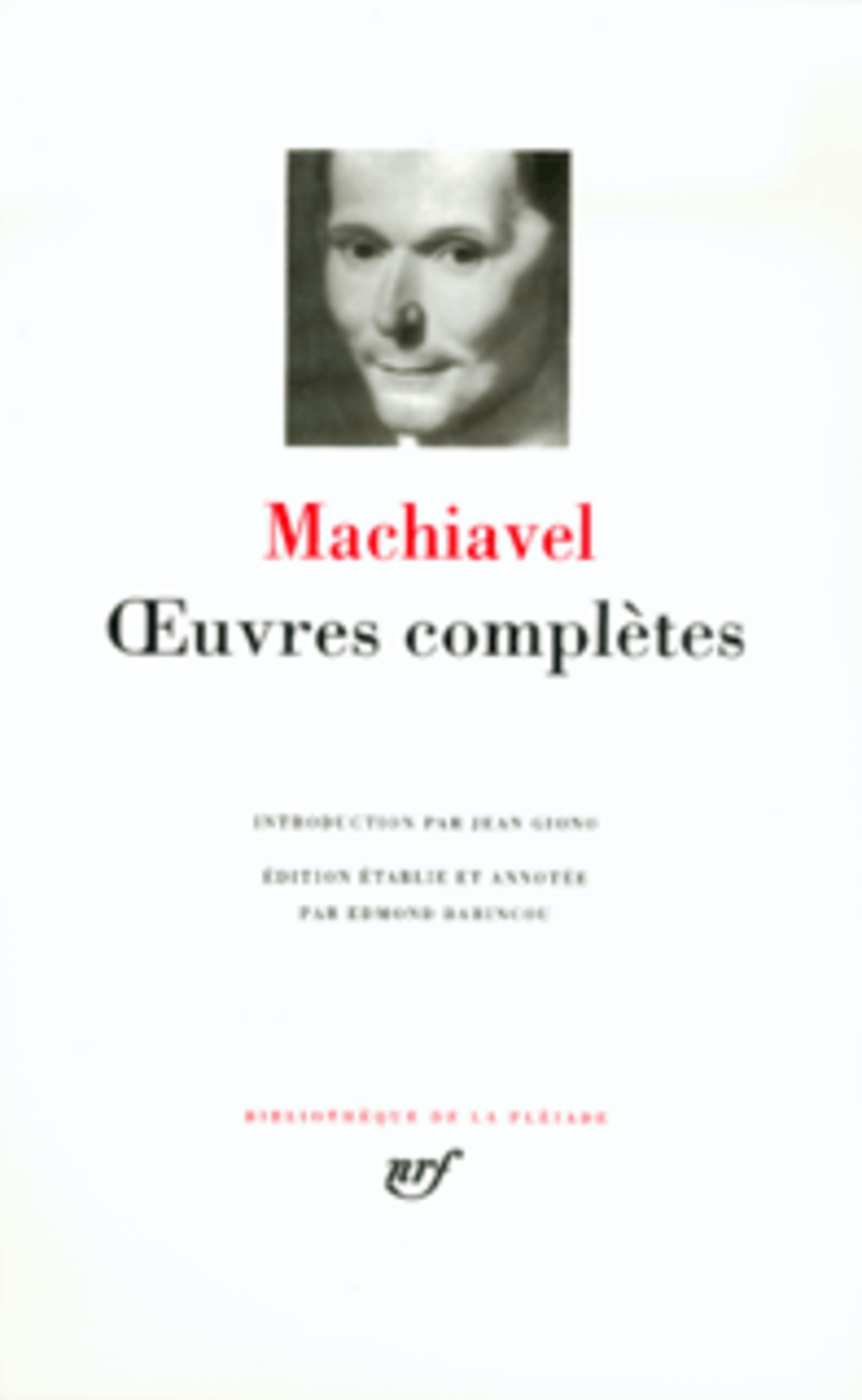 OEUVRES COMPLETES MACHIAVEL GALLIMARD