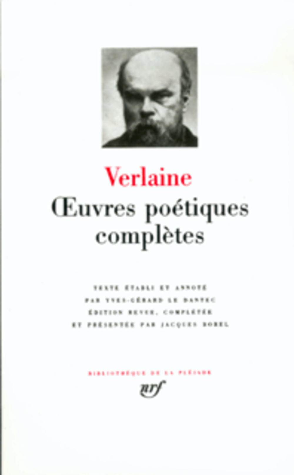 VERLAINE PAUL - OEUVRES POETIQUES COMPLETES
