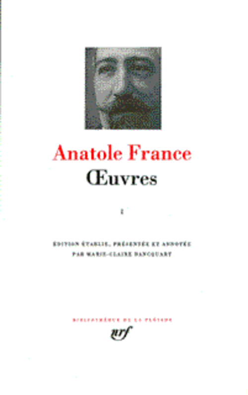 ANATOLE FRANCE OEUVRES 1 FRANCE ANATOLE GALLIMARD