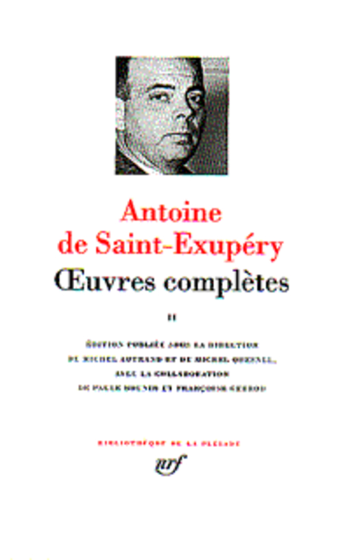 OEUVRES COMPLETES (TOME 2) SAINT-EXUPERY A D. GALLIMARD