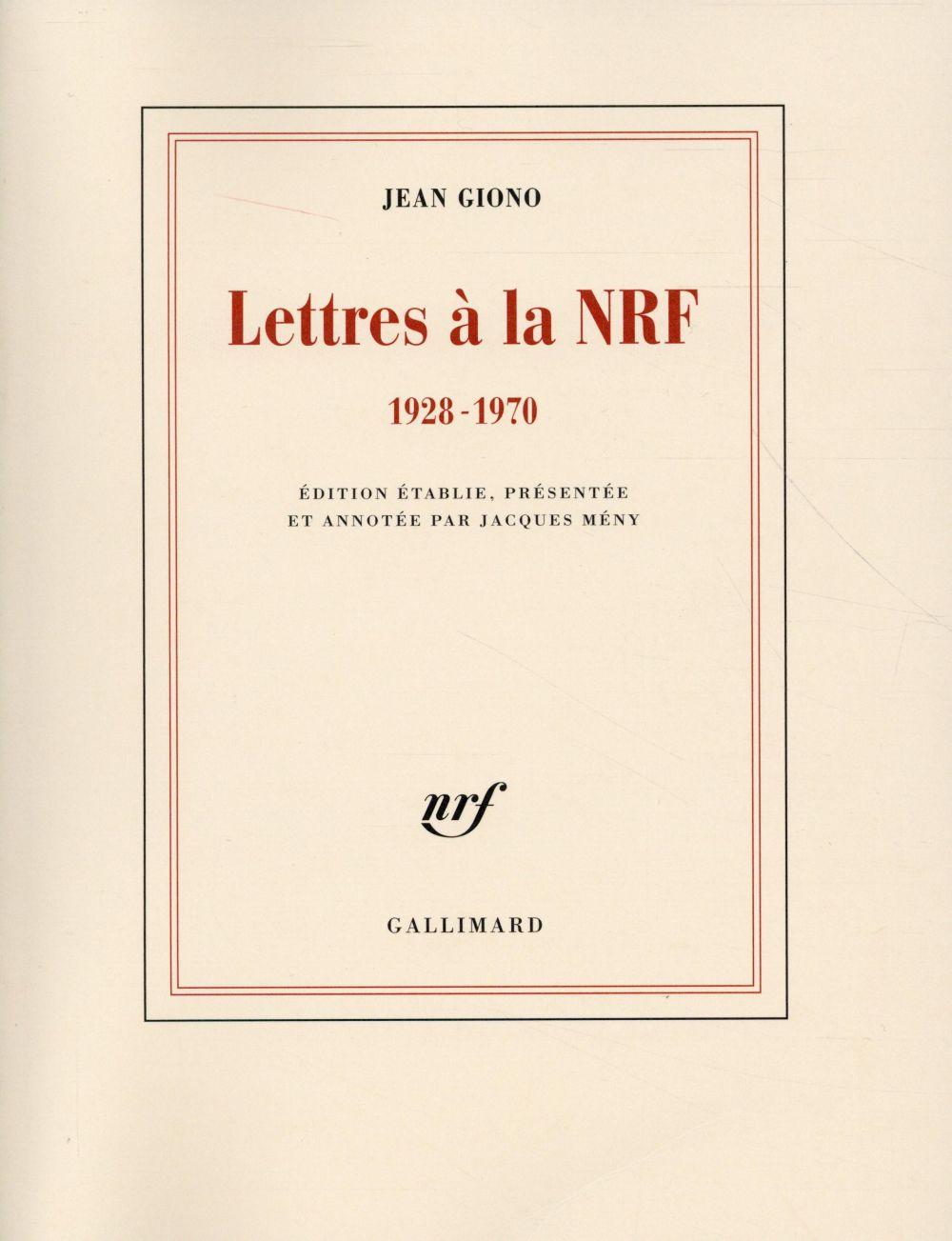 Lettres à la NRF