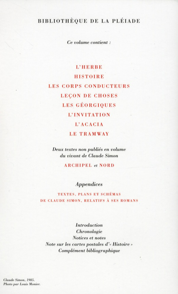 OEUVRES (TOME 2) SIMON CLAUDE Gallimard
