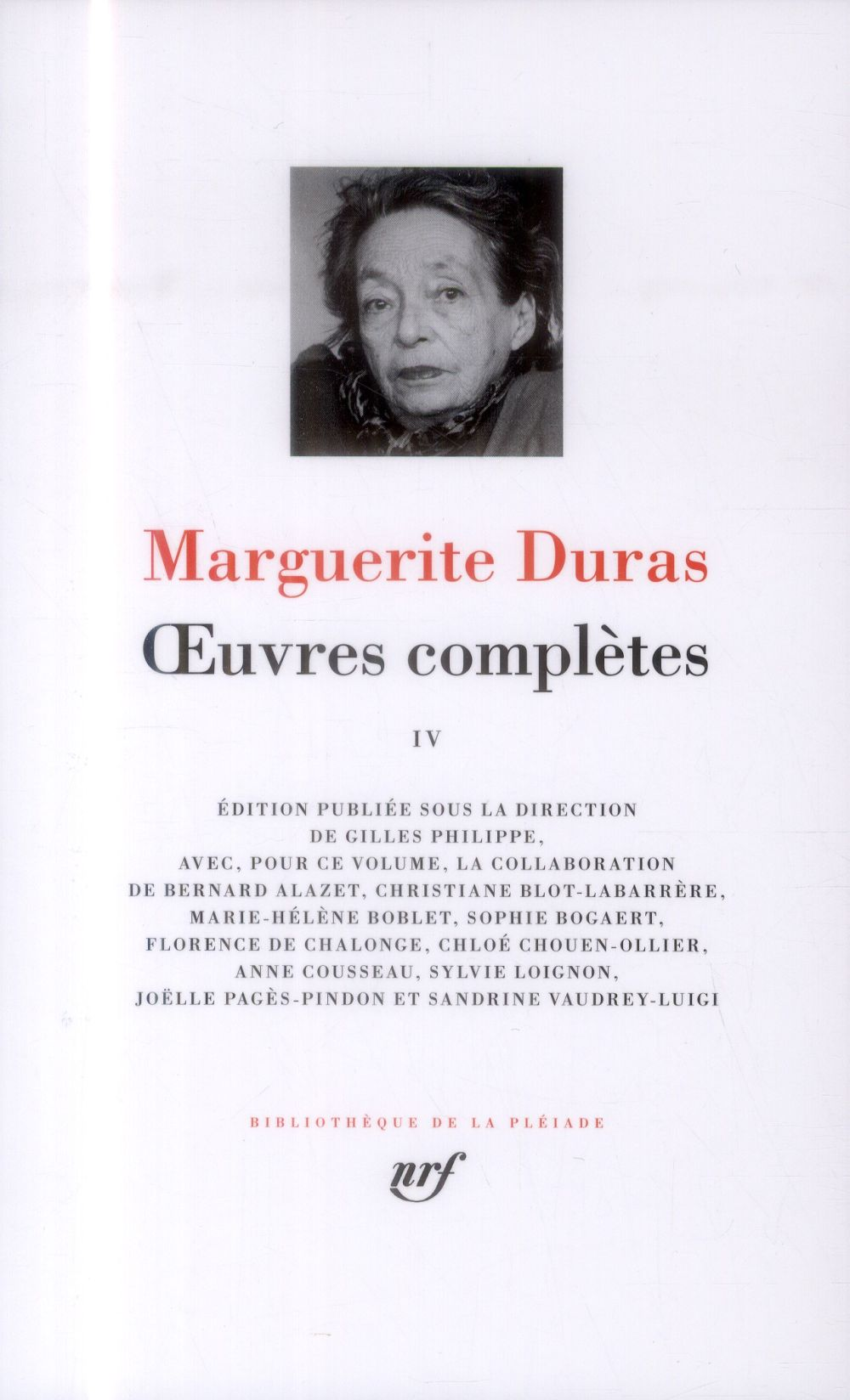 Duras Marguerite - OEUVRES COMPLETES (TOME 4)