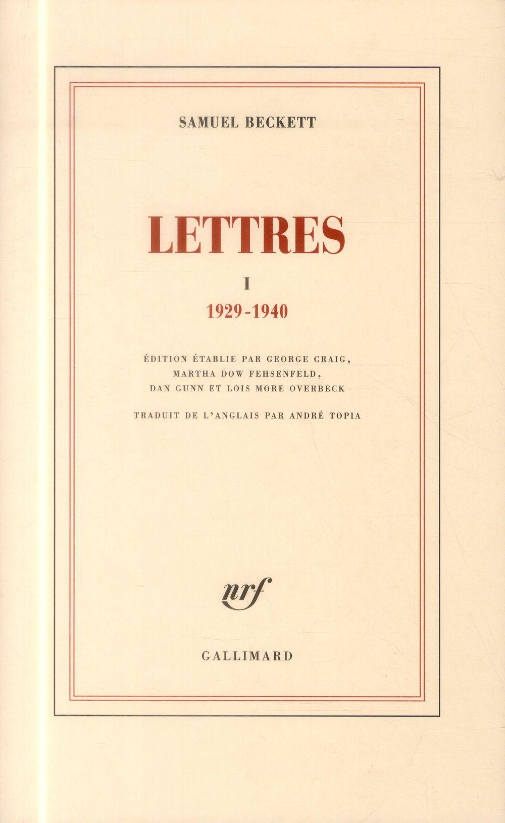 Lettres 1929-1940 Vol.1