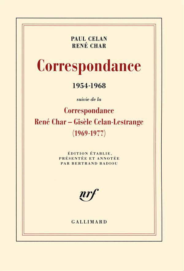 CORRESPONDANCE  (SUIVI DE LA C