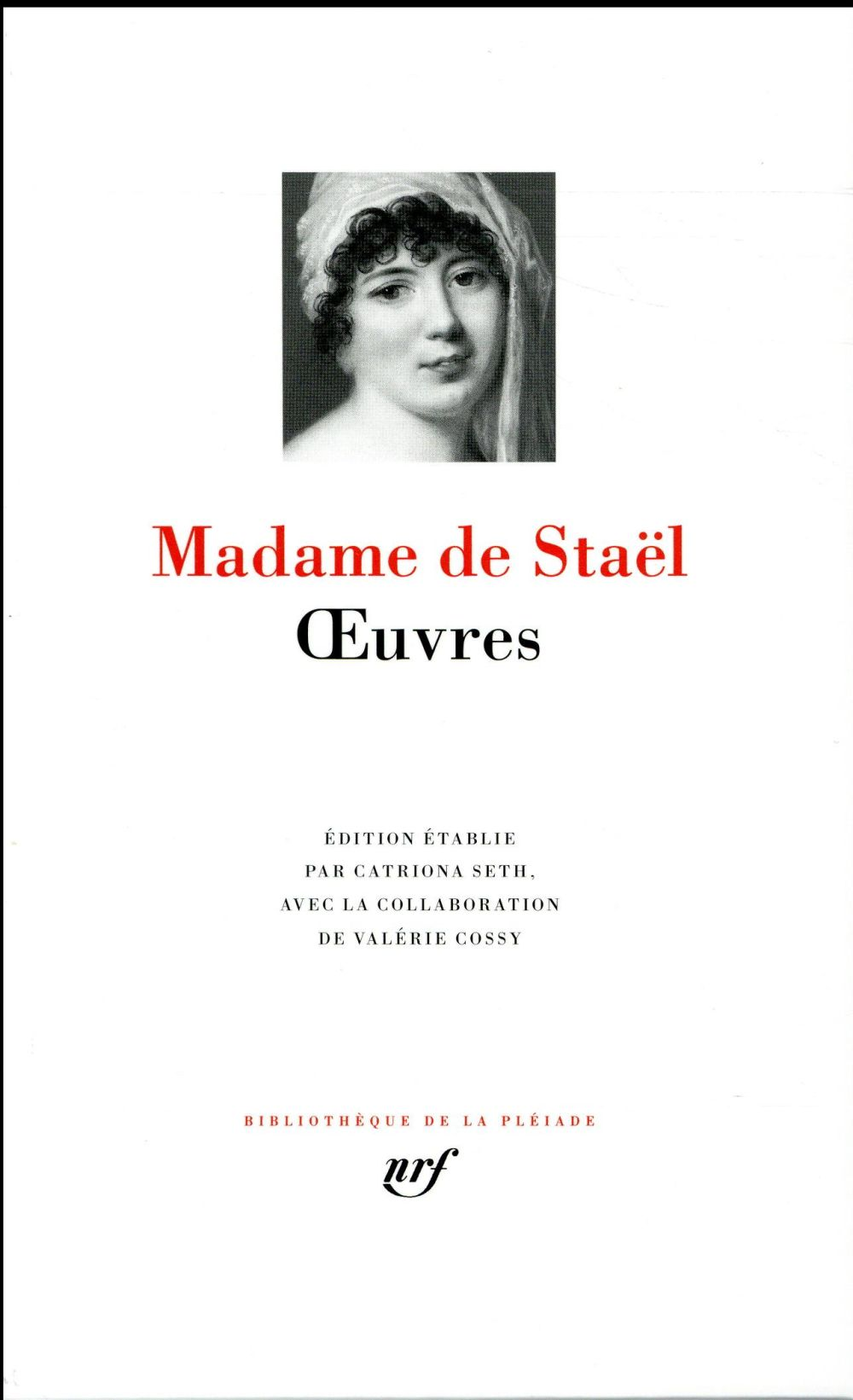 OEUVRES STAEL MADAME DE GALLIMARD