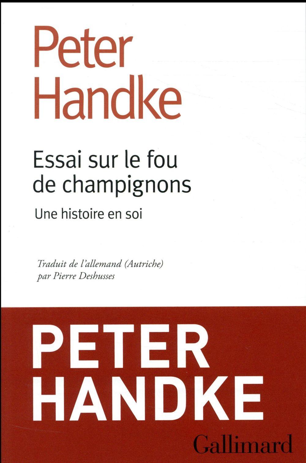 ESSAI SUR LE FOU DE CHAMPIGNONS - UNE HISTOIRE EN SOI