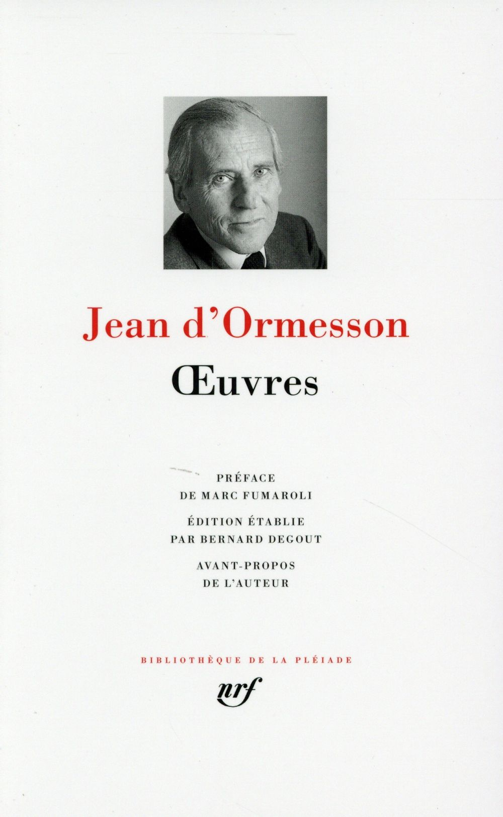 OEUVRES (TOME 1) Ormesson Jean d' Gallimard