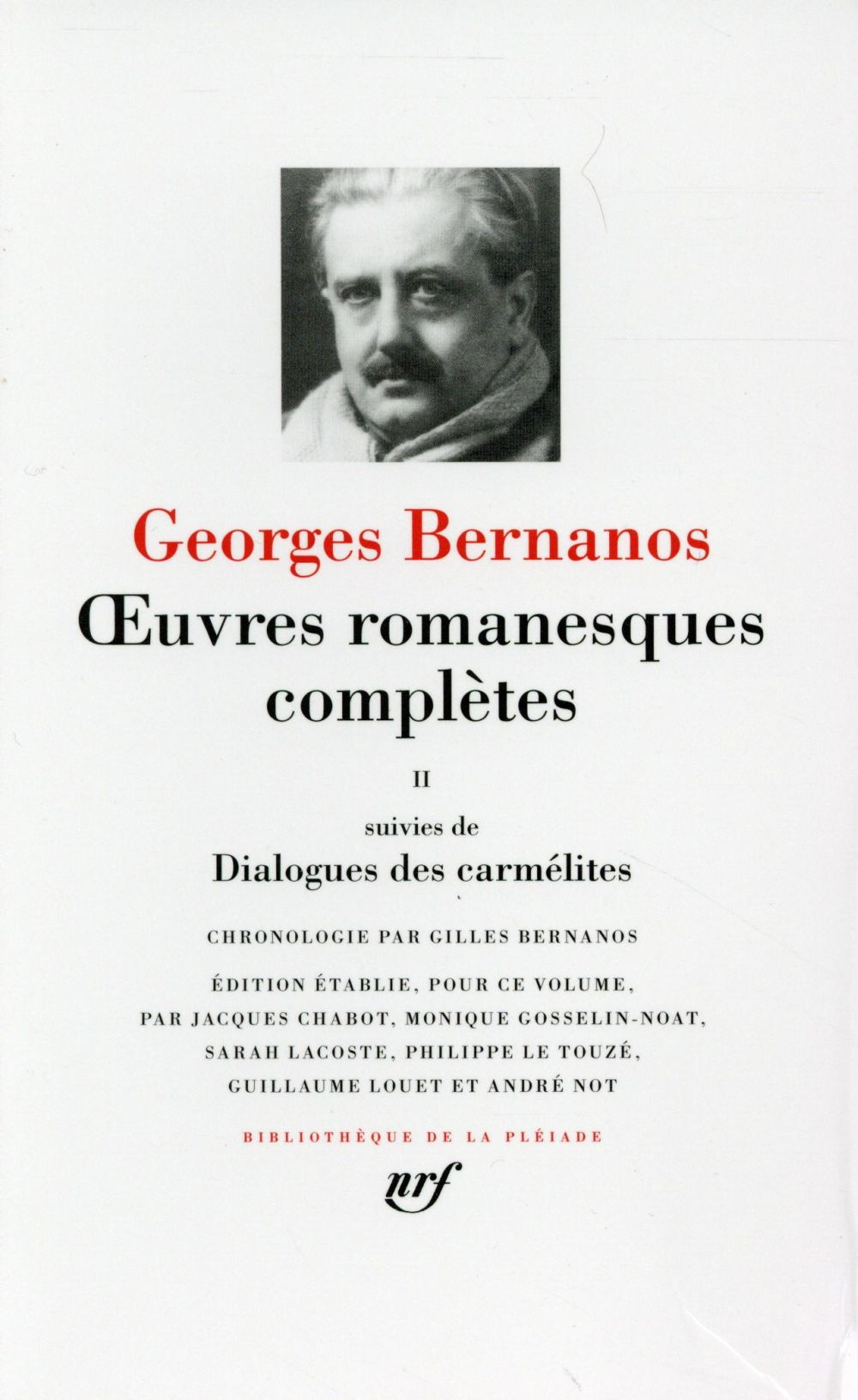 OEUVRES ROMANESQUES COMPLETESDIALOGUES DES CARMELITES (TOME 2)