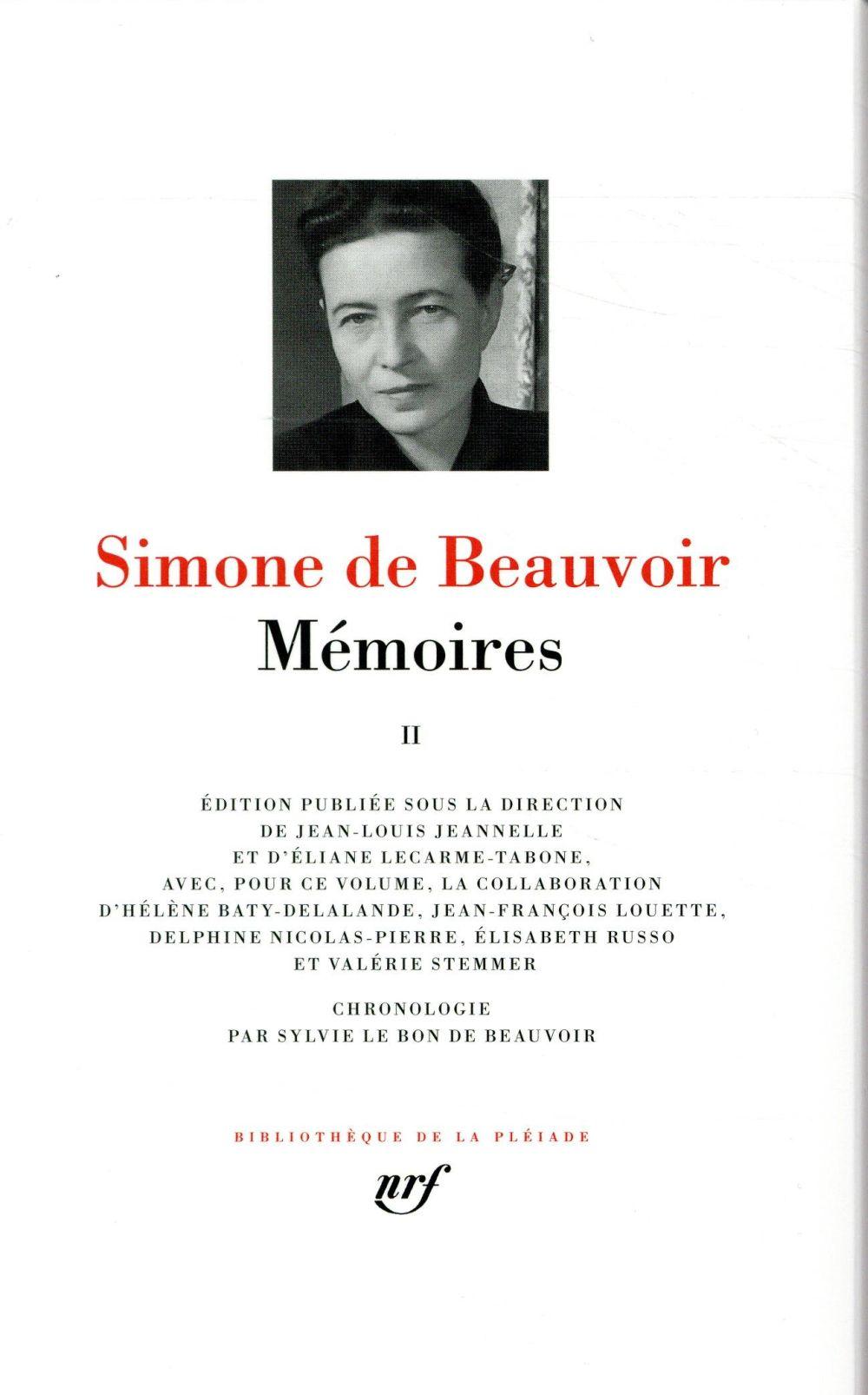 MEMOIRES (TOME 2) BEAUVOIR, SIMONE DE GALLIMARD