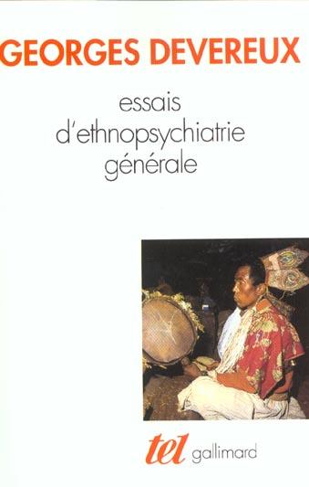 ESSAIS D'ETHNOPSYCHIATRIE GENERALE
